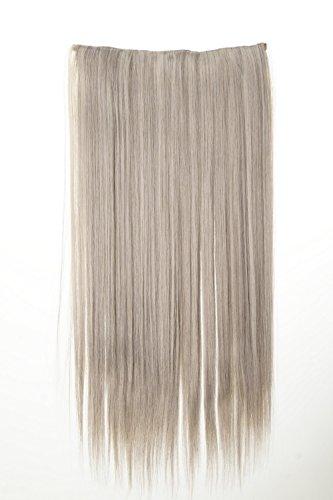 WIG ME UP - Extension capillaire large épaississement cheveux 5 clips gris épaix lisses 60 cm L30172-51