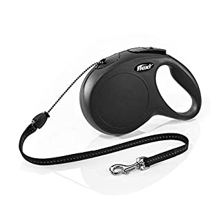flexi New Classic Retractable Lead Cord, Black, Medium