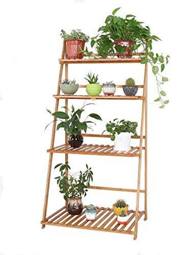 ZHAS Steht Q-Y-J Blumenständer, Boden Holz Blumenständer, Faltbare Outdoor-Bonsai-Rahmen, Lagerregal, Küchenregal (Holz-boden Faltbare)