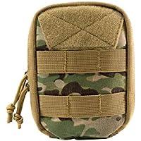 OneTigris Molle EDC Tasche, Dragon Egg Military Werkzeugtasche 500D Cordura Nylon Taktische Zubehörtasche für Outdoor, Sport, Wandern (Camo-Vertikal)