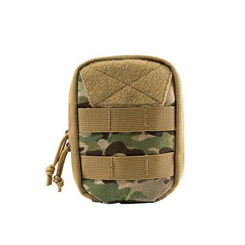 OneTigris Molle EDC Tasche, Dragon Egg Militäry Werkzeugtasche 500D Cordura Nylon Taktische Zubehörtasche für Outdoor, Sport, Wandern (Camo-Vertikal) |MEHRWEG Verpackung -