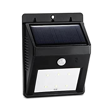 rxyyos helle 6 led wireless outdoor wand solarlampe wetterfest mit bewegungsmelder. Black Bedroom Furniture Sets. Home Design Ideas