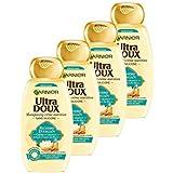 Garnier Ultra DOUX Shampooing Richesse d'Argan 1 L - Lot de 4