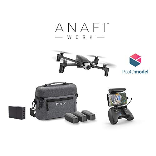 fi Work Komplettes Nomad Pro Set (4K HDR 21 MP Kamera 180° Ausrichtung und verlustfreier Zoom, 3D Modelling Software, Die ultrakompakte Drone für jeden Profi) ()