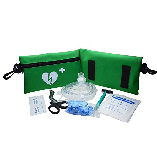 WAP Emergency resuscitation Equipment CPR/AED Fast Response Kit in Green Nylon Bag