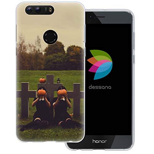 dessana Horror Transparente Schutzhülle Handy Case Cover Tasche für Huawei Honor 8 Horror Friedhof 8 Gore-cover