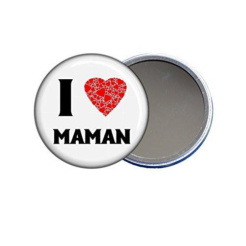 Miroir de poche - I love Maman