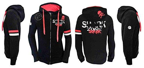 HOTSPOT DESIGN Zip Sweater Shark Zone, Sweatjacke mit Kapuze, Gr. L, SW-SZ01001S03 -