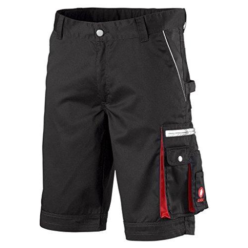 Krähe Kurze Arbeitshose Modern Plus Pro - Hose mit Mehrwert, Sommer geeignet, 9 Taschen, Verstellbarer Bund in schwarz Größe 50 -