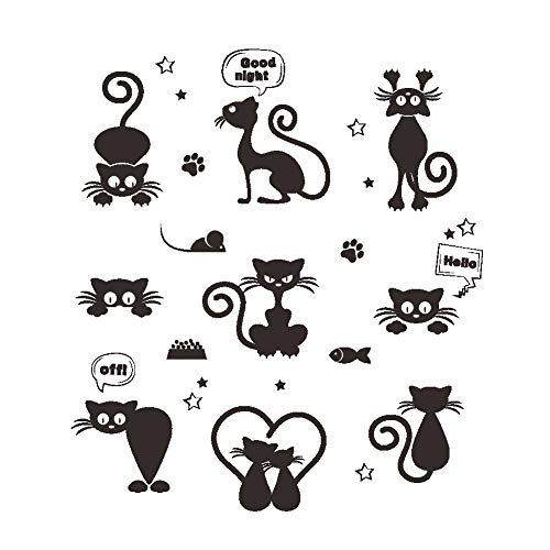 Ufengke Pegatinas Decorativas Pared Interruptor Gatos