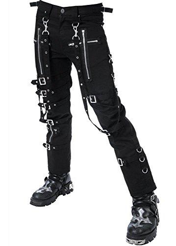 fc124aaf5fc943 Dead Threads Darque Gothic Punk Heavy Metal Herren Bondage Pants schwarz  Gr. Large