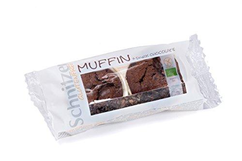 Schnitzer Dark Chocolate Muffins -Glutenfrei- (2*70g) 140g Bio Brot, 3er Pack (3 x 140 g)
