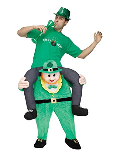 Carry Me Leprechaun Costume Adult - Carry Me Kostüm Leprechaun