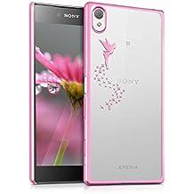 kwmobile Elegante y ligera funda Crystal Case Diseño Hada para Sony Xperia Z5 Premium en rosa fucsia transparente