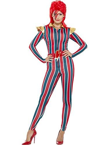 Superstar Gürtel (Smiffys Damen Weltraum Superstar Kostüm, Jumpsuit und Gürtel, Größe: 40-42, 43859)