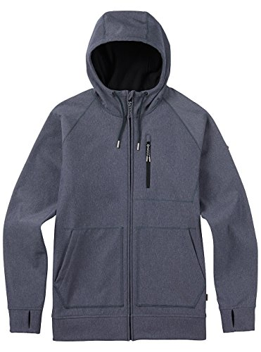 Burton Bonded Fullzip – Felpa in pile Denim Heather