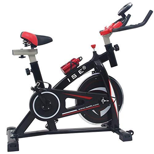 ISE Bicicleta Spinning Estática Sensor Pulso, Volante