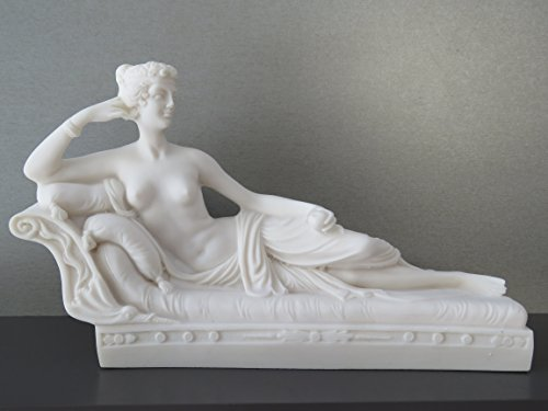 Griechische antike nackte Lady Paulina (dekorative handgemachte Alabaster Statue 18cm)