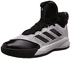 adidas Mens Rim Reaper 2015 White, Black and Grey Basketball Shoes - 7 UK