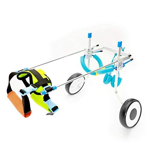 LXFKinderwagen für Haustiere Hunde-Rollstuhl/Hundscooter/Reha-Trainingswagen/aus dem tragbaren Einfaches Falten mit abnehmbarer Unterlage, Ablage (größe : M)