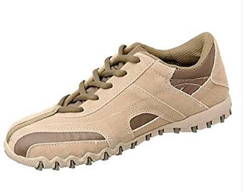 Unbekannt , Chaussures de ville à lacets pour femme - Beige/Grün