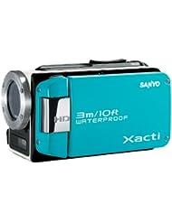 Sanyo Xacti WH1 Caméscope Numérique HD + Appareil photo Etanche 2 Mpix Zoom optique 30x Microphone Bleu