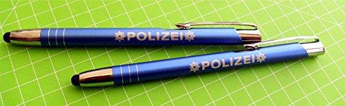 Preisvergleich Produktbild Kugelschreiber TouchPen polizei Blau 2 Stk