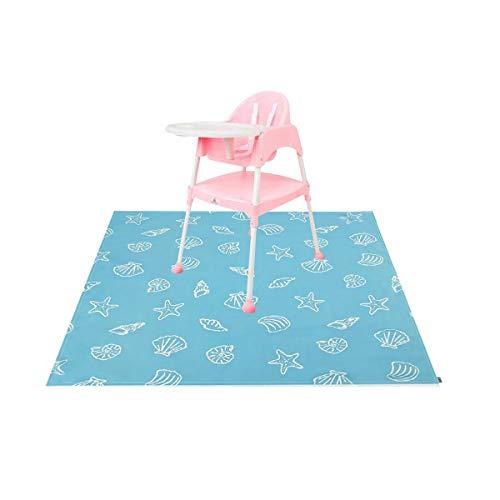 Xinyanmy Baby Mahlzeit Bodenschutz,Schmutzschutz Unterlage unter Hochstuhl für Kinder Fütterung Fußboden Abdeckung Splash Mat,110 x 110cm/43.3 x 43.3