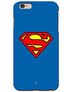 iPhone 6 Plus / 6S Plus Cases & Covers - Superman Logo Case by myPhoneMate - Designer Printed Hard Matte Case - Protects from Scratch and Bumps & Drops.