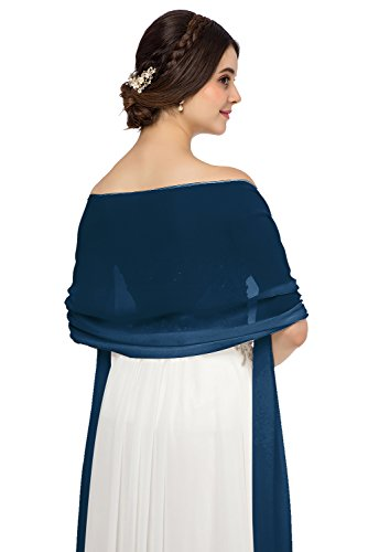 JAEDEN Chiffon Stola Schal f¨¹r Brautkleider Abendkleider Alltagskleidung in Verschiedenen Farben 45cmx220cm (Jade Brautkleider)