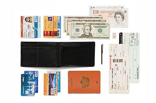 Bellroy Leder Geldbörse und Reisepass Hülle Travel Wallet; Farbe: Java - RFID Midnight