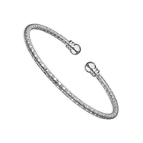 Bracelet Jonc Femme Fashionvictime - Bijou Argent Plaqué Rhodium -