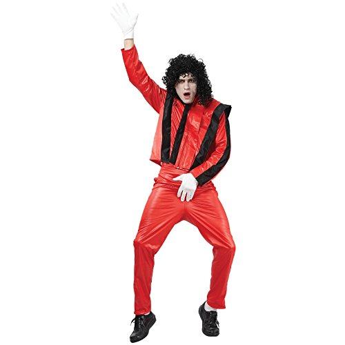 Kostüm Sänger Pop - Kostüm Popstar Michael Größe 52-54 Sänger Pop King Verkleidung