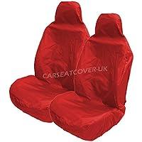 Fundas para asientos del coche Carseatcover-UK ® resistentes al agua en color rojo, 2 unidades frontales