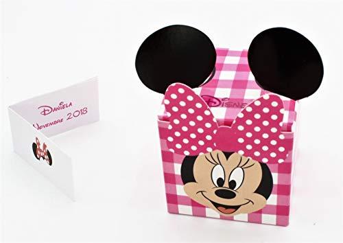 N.20 scatola bomboniera cubo portaconfetti inserto disney minnie rosa