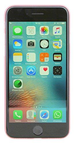 0,2 mm ultra dünne Schutzhülle für iPhone 7 Hülle Etui Case Cover Hartschale dezent Hard Bumper in Transparent @ Energmix Pink