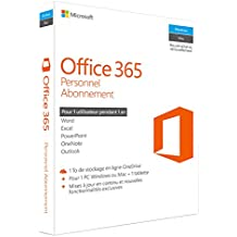 Office 365 Personnel 1 PC Windows/Mac + 1 tablette - Abonnement 1 an