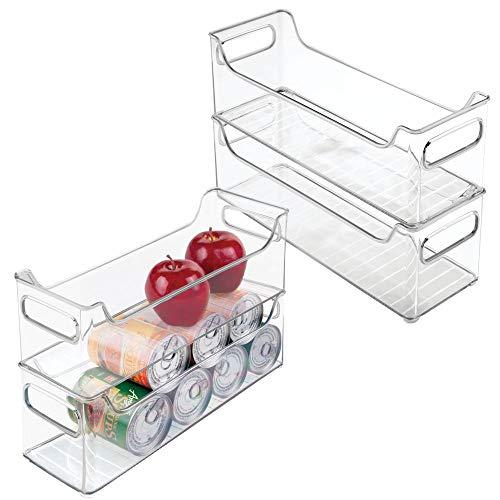 MDesign Juego 4 cajas organizadoras cocina nevera