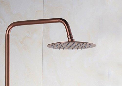 SMQ Dusche Set Space Aluminium Vollkupfer Antik Rose Gold Wasserhahn Full Lift Regenwald Dusche Set