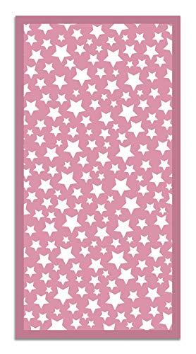Panorama Alfombra Vinílica Estrellas Color Rosa 80 x 200 cm - Alfombra Cocina Vinilo - Alfombra Salón...