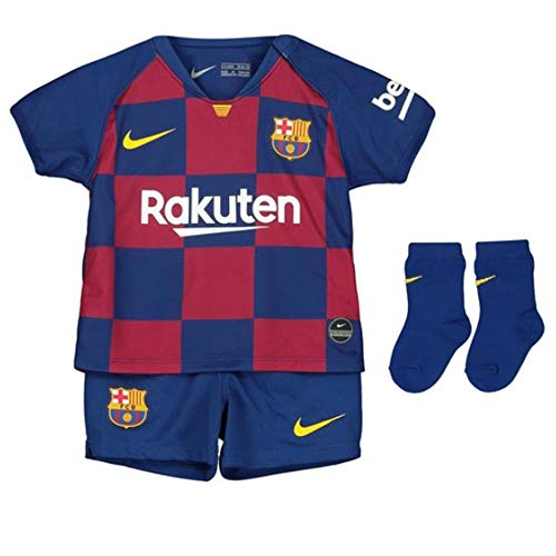 Nike FCB I Nk BRT Kit Hm Football Set, Unisex niños, Deep Royal Blue/(Varsity Maize) (Full Sponsor), 3-6M