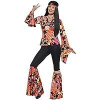 c02b80d862a28c SMIFFYS Costume Willow the Hippie, Multicolore, con top, pantaloni, foulard  e medaglione