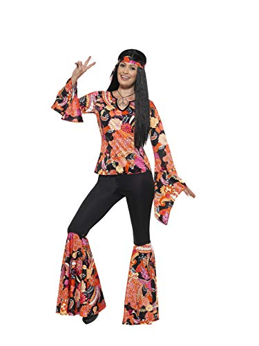 Smiffy'S 45516M Disfraz De Chica Hippy Con Parte De Arriba, Pantalón