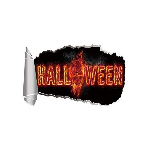 daufkleber Halloween Kürbislaterne Kürbiskopf Karikatur Wandkunst Aufkleber WohnkulturFür Kinder Teenager Wohnzimmer ()