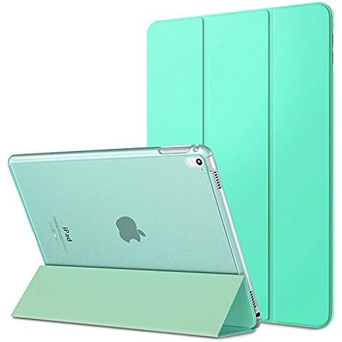 MoKo iPad Pro 9.7 Funda - Ultra Slim Función de Soporte Protectora Plegable Smart Cover Trasera Transparente Durable (Auto Sueño / Estela) Para Apple iPad Pro 9.7 2016 Tableta, Verde Menta