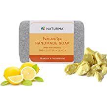 Naturma Shea Butter and Lemon Handmade Soap, Natural and Organic, Tranquil Therapeutic Softens, 125gm