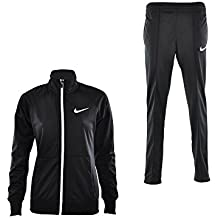 Nike Polywarp Raglan W Up Were - Chándal para mujer, color negro / blanco, talla L