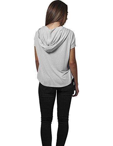 Urban Classics Ladies Short Viscose Hoody T-shirt Femme noir Sable