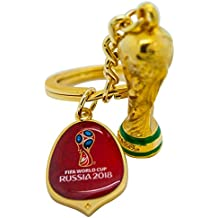 Amball 2018 World Cup 3D Trophy Keyring with Logo Tag 45mm