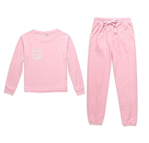 Frühling und Herbst Modelle langärmelige Baumwollhosen rosa Haus Service Anzug Pink
